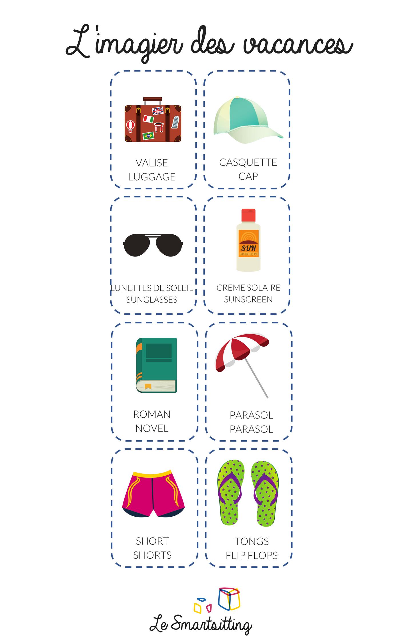 imagier montessori gratuit des vacances
