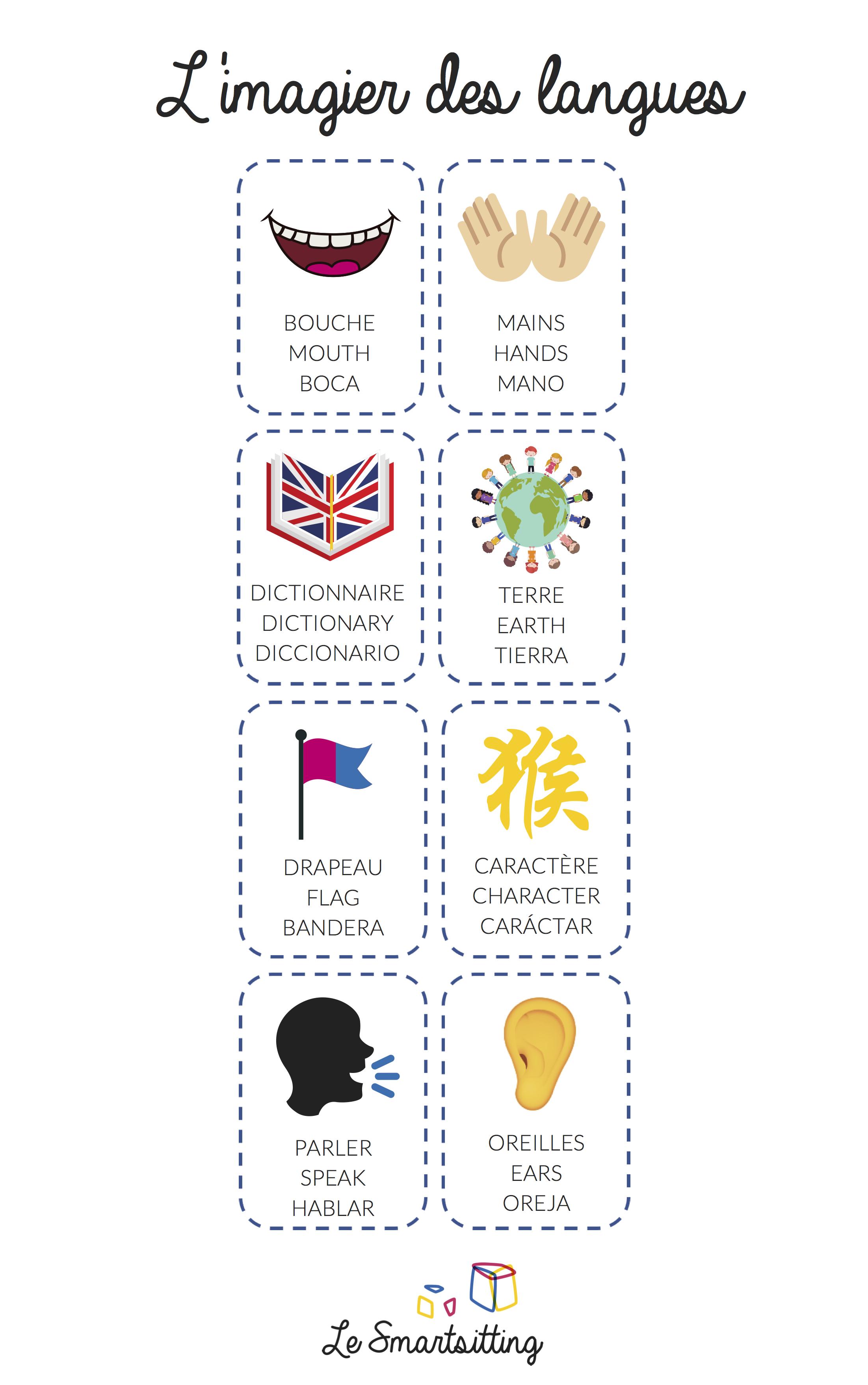 imagier des langues montessori