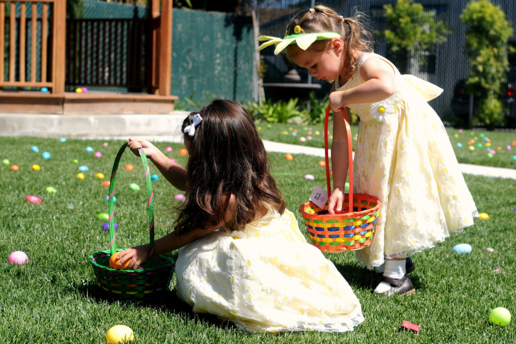 Panier pour la chasse aux œufs de Pâques
