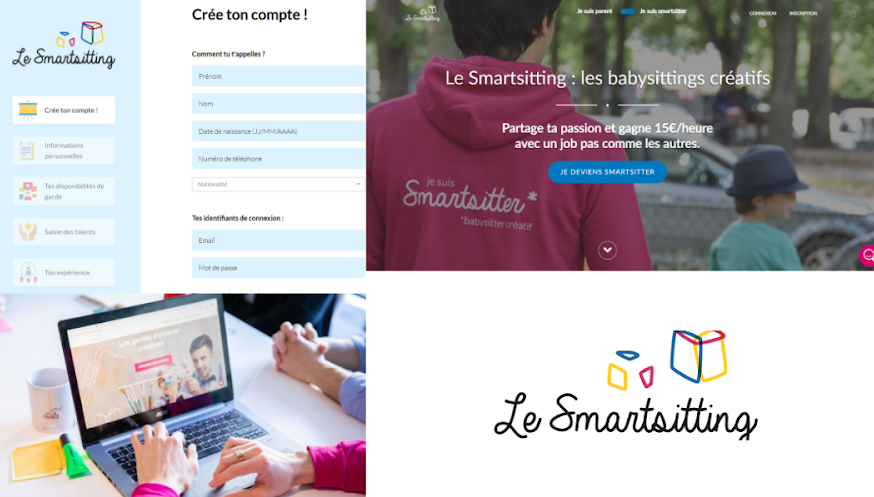 Website Le Smartsitting, garde d'enfants créative